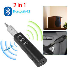 Bluetooth 4.2 Mini AUX 3.5mm Wireless Music Receiver Streaming Audio Adapter Mic