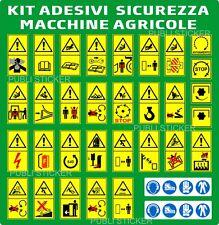 31 PITTOGRAMMI ADESIVI SEGNALE PERICOLO ISO 11684 MACCHINE AGRICOLE E FORESTALI