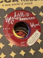Young Jessie, Modern 961, Mary Lou & Don't Think I Will, Classic two sider R&B