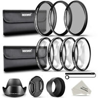 Neewer 52mm Lens Filter Accessory Kit UV CPL ND4 Macro Close Up Set +1 +2 +4 +10
