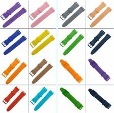 Wrist Watch Band Strap For Swatch Rubber Silicone 16/17/19/20 Watchband Durable