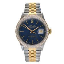 Rolex Datejust 36 Acero   18K Oro Amarillo Reloj Personalizado Diamante  Bisel 16233 b058427201d