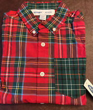 Old Navy Plaid Boys Holiday Shirt Size M (8)