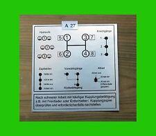 Schaltschema Unimog 407 417 8 Gang Vorschaltgetrieb A27