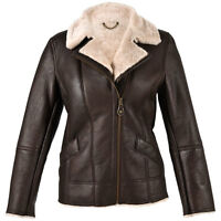 Ladies Mepal Sheepskin Coat Flying Jacket Aviator