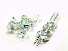 5mm TWO DUO HOLE CZECH GLASS VARIO DIAMOND BEADS - 28 COLOURS - 5G (APROX 50PCS)