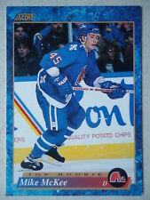 NHL 630 Mike McKee Quebec Nordiques Top Rookie Score 1993/94