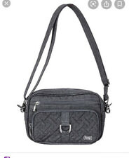 Lug Carousel XL  RFID Blocking Quilted Crossbody Bag Gray Purse NWOT