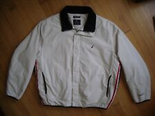 NAUTICA NX2000 COMPETITION Windbreaker Jacket xl Insulated BEIGE RED NAVY STRIPE
