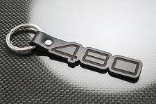 Volvo 480 Leather Keyring Keychain Schlüsselring Porte-clés ES 480ES TURBO