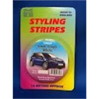 6mm Single Black Stripe Car Decal - Pin Length Tape 10 10m Castle Promotions