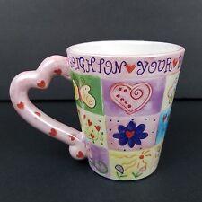 Brighton Coffee Mug Tea Cup Heart Shaped Handle Ceramic Brighton Your Day New