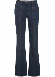 "Jeans dark blue Bootcut Schlagjeans stretch Gr. 48 ""Rainbow"" NEU"