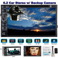 For Volkswage Car Stereo Radio Double 2DIN 6.2''In Dash DVD Player+Backup Camera