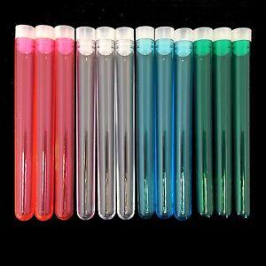Plastic Test tubes 150 x 16mm for shots, wedding favours, tube & cap UK SELLER