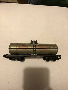 American Flyer Compatible Marx Tank Car With A F Trucks Knuckle Couplers