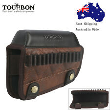 TOURBON Shooting Cheek Rest Comb Riser .22LR Cal Ammo Holder PU Leather AUPOST