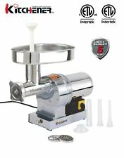 Kitchener #22 Commercial Grade Electric Meat Grinder 1 HP 840-lbs/ Hr