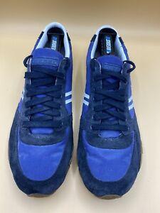 Mens Diesel Barner Blue Suede Fashion Sneaker Shoe Size 11