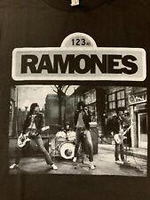 The Ramones Sesame Street Set Scene Black T-Shirt *Brand New* +Bonuses *Unique*