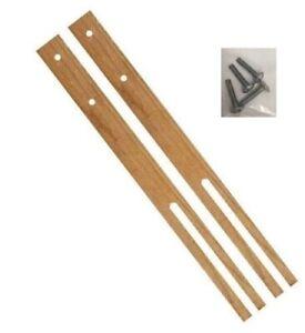 Multi Fit Pair Hardwood Headboard Legs Struts Slotted & Pre-Drilled + Screw 61cm
