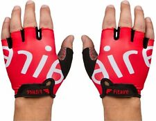 Fitaire Cycling Glove Biking Glove Medium Red Gel Padding RED 75pk