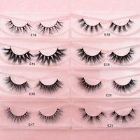 3d Mink False Eyelashes Extension Natural Handmade Reusable Lashes Makeup Beauty
