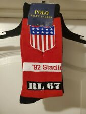 🏃 1992 Polo Ralph Lauren Stadium Socks Men's PWing Olympic Wing Indian