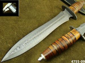 ALISTAR SUPERB HANDMADE DAMASCUS STEEL KNIFE DOUBLE EDGE HUNTING DAGGER 4755-9