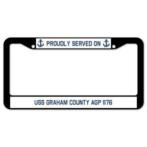 SignMission Served On USS GRAHAM COUNTY AGP 1176 Plastic License Plate Frame