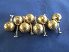 8 petites boules boutons tiroirs meuble laiton massif diamètre 1,9 cm décoration