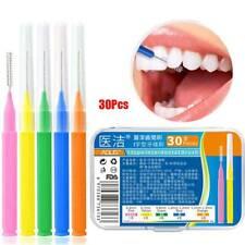 30 Pcs Interdental Brush Dental Floss Interdental Orthodontic Oral Care Tool~