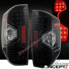 2014-2016 Toyota Tundra Pickup Truck LED Tail lights Clear Lens Black Housing