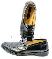 Johnston Murphy Handcrafted Penny Loafer Men's 10.5 M Black Slip On Shoe Italy