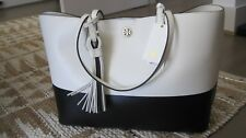 BRAND NEW WITH TAGS TORY BURCH PERRY TWO TONED   TOTE WITH DUST BAG