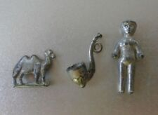 Vintage Metal Charms - Set of 3 Pipe, Person & Camel