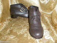 VTG E. AIGNER DK BROWN LEATHER LOAFERS SHOOTIES ANKLE BOOTS CHUKKA CLOGS 6.5 M