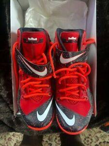 Nike Zoom Lebron Soldier VIII Tom Brady Tampa bay bucs red Size 9 Superbowl