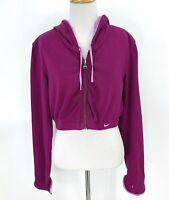 Vintage Nike Cropped Reversible Jacket Women Size S Full Zip Hoodie Thumb Holes
