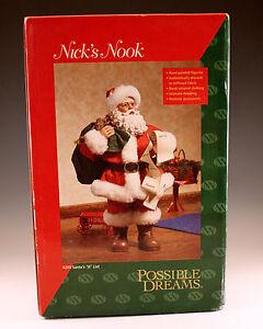 NIB 2003 POSSIBLE DREAMS NICK'S NOOK, SANTA'S A LIST SANTA, #4209