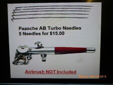 paasche A/B turbo airbrush needles 5 for $15/Almost all gone !!!