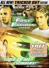 The Fast and the Furious (DVD, 2003, Tricked Out Edition Full Frame)