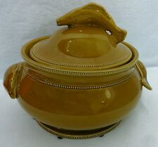 WILLIAMS-SONOMA china Large FISH HANDLE Soup Tureen & Lid