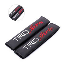 2pcs Carbon Fiber Embroidery Seat Belt Shoulder Pad Cushions For TRD Sports