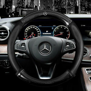 """15"""" Car Steering Wheel Cover Genuine Leather For Mercedes-Benz Good"""