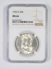 1953-S MS66 Franklin Half Dollar - 90% SILVER - PCGS Graded *888