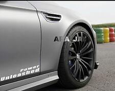 Power Unleashed Vinyl Decal sport car racing sticker logo emblem WHITE