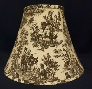 Black and White JAMESTOWN COLONIAL TOILE Lamp Shade * AWESOME *