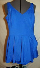 Longitude 10 TALL   swimsuit one piece swim dress BLUE