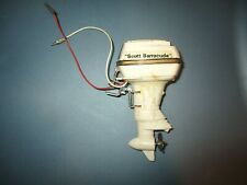 RARE SCOTT BARRACUDA 80 ELECTRIC TOY OUTBOARD BOAT MOTOR W/ CLAMP WIRES JAPAN